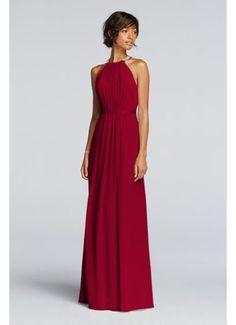 Long Sheer Chiffon Dress with Cutaway Details JP291663