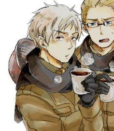 Hetalia - Prussia and Germany.
