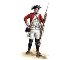 British 17th Regiment. of Foot  Private- Princeton 1777