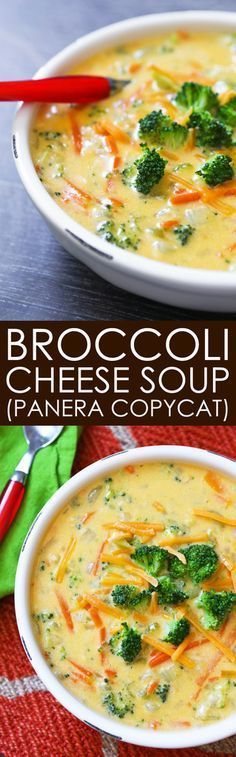 Broccoli Cheese Soup | This tastes just like the famous Panera Bread soup! Soooo good!