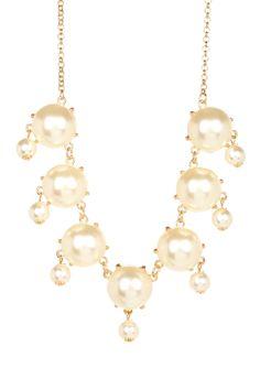 Pearl Bubble Dangle Necklace <3