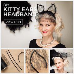 Kitty Ears Headband by @trinketsinbloom | Easy last minute Halloween Costume