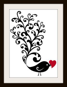 Bird Silhouette Cross Stitch Pattern Cross by LosAngelesNeedlework, $4.47