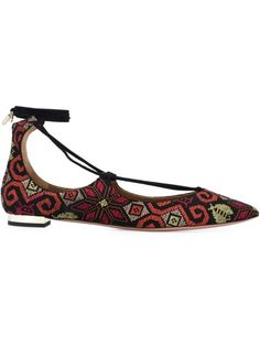 AQUAZZURA 'Christy' Ballerinas. #aquazzura #shoes #flats