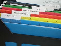 Keep all of your tax paperwork in a separate filing box so it is easy to find and all together.