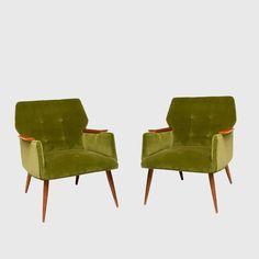 Pair of Mid Century Modern Armchairs