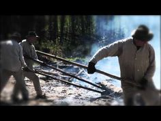 Slash and burn farm preparing. Cultural history of Finland.