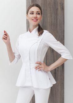 Spa Uniform, Scrubs Uniform, Uniform Dress, Uniform Shop, Doctor White Coat, Beauty Uniforms, Scrubs Outfit, Work Uniforms, Uniform Design