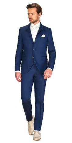 Kostuum 3-delig cossmo 2224R Clayton blauw 3 delig cossmo kostuum | ROKA