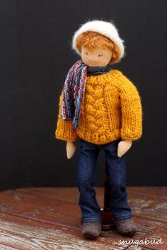 ooak cloth art doll felt sculpted waldorf doll waldorf by snugabud