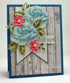 Hardwood and Stippled Blossoms for The Paper Players - The Stampin' Schach