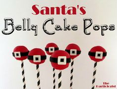The Partiologist: Santa's Belly Cake Pops