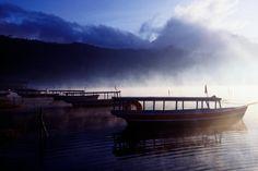 Lake Batur, Bali  Mist rising off Lake Batur. ~   Gregory Adams Lonely Planet Photographer