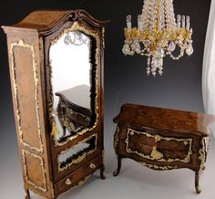 Dollhouse armoire The San Remo by gerrysminis on Etsy, $195.00