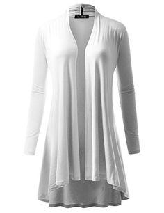 c8c66e669b A.F.Y All For You Women s Extra Long Cardigan White X-Large Maxi Cardigan