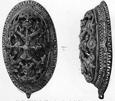 Viking tortoise (oval) brooches