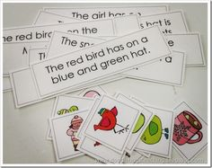 Match the picture to the sentence. Fluency, sight-words, and comprehension!  love love love this!