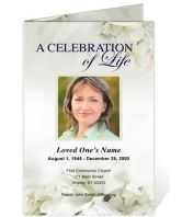 Obituary Templates: Printable Funeral Programs Example Lily