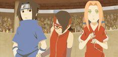 Sasusaku proud of sarada Naruto And Sasuke, Sasuke Uchiha Sakura Haruno, Kakashi Sensei, Naruto Anime, Naruto Cute, Naruto Funny, Anime Manga, Manga Art, Tenten Y Neji