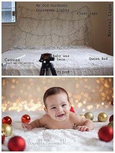 How-to Christmas Baby Photoshoot Photo Bb, Photo Tips, Children Photography, Family Photography, Infant Photography, Photography Lighting, Holiday Photography, Photography Backdrops, Digital Photography