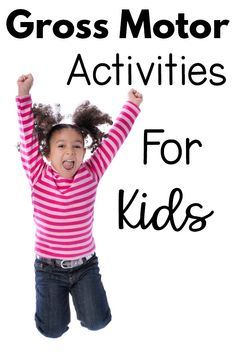 Gross motor activities and ideas to work on gross motor skills. Games, videos, and resources to work on large motor skills. Motor Skills Activities, Movement Activities, Gross Motor Skills, Sensory Activities, Infant Activities, Physical Activities, Activities For Kids, Sensory Motor, Indoor Activities