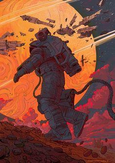 J / Ignacio Bazan-Lazcano :: Sci-Fi :: space :: art (арт) Sci Fi Kunst, Cyberpunk Kunst, Comic Kunst, Comic Art, Arte Sci Fi, Sci Fi Art, Art And Illustration, Art Illustrations, Science Fiction Kunst