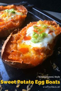 Southwestern-Style Sweet Potato Egg Boats