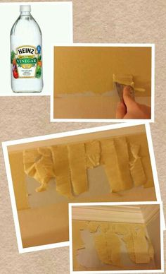 To Remove Wall Paper Border Peel Off Top Decorative Layer Or Score It Pour