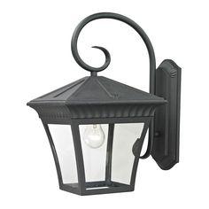 ELK LIGHTING Cornerstone 11-inch Matte Textured Ridgewood 1-light Exterior Coach Lantern