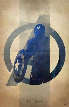 The Avengers: Captain America: The Soldier Marvel Dc Comics, Hq Marvel, Marvel Heroes, The Avengers, Avengers Actors, Avengers Humor, Avengers Poster, Logo D'art, Art Logo