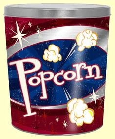 Fill this 6.5 gallon tin with your favorite type of popcorn! #chicagomix #caramelcorn #popcorn #corporategift