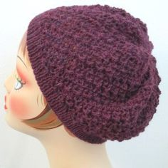 Berry Swirl Beanie, free pattern from Balls to the Walls Knits.