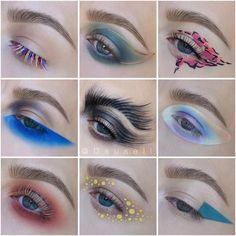 Apparently I have a thing for blue💙💎💦🌀 What do you guys think of blue eyeshadow ? Makeup Geek, Makeup Inspo, Makeup Art, Makeup Inspiration, Beauty Makeup, Male Makeup, Makeup Designs, Eye Art, Creative Makeup