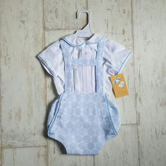 T-Bar Dotty Romper Set #tbar #babyclothes #babyboy #babybluboutique Sale: £20 Size:12m