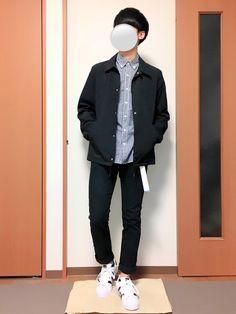 いつも見ていただきありがとうございます(^^) 今回はGUのコーチジャケットを使ったモノトーンコーデ Rain Jacket, Windbreaker, Normcore, How To Wear, Jackets, Style, Fashion, Down Jackets, Swag