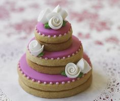 Wedding Cake Cookie Stacks