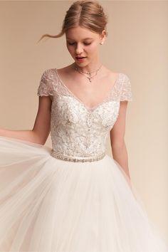 BHLDN Ivory Brio Bodysuit in  Bride   BHLDN