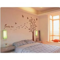 $39.93 PVC Lovely Tree Pattern Wall Decal Home Decor TV Background Sticker (Coffee)