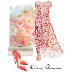 Cherry Blossoms, created by moodycat on Polyvore