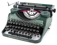 Underwood Portable of 1931 in Colors