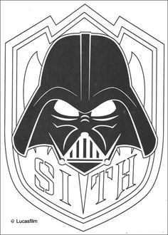 Mask of Darth Vader coloring page. More Star Wars content on hellokids.com