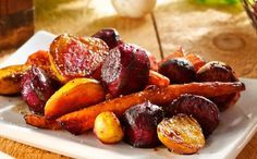 Roasted Beets, Carrots and Turnips with Balsamic Vinegar - my beets are in the oven right now - probably with make something similar: beets, carrots and parsnips