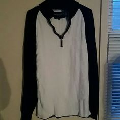 *REDUCED* Mens Nautica Sweater Mens Nautica sweater, size Large. Navy blue and white, one little stain on front, otherwise great condition. Price is negotiable. Nautica Sweaters