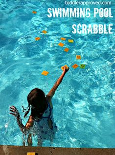 Swimming Pool Scrabble: for older pool parties also, toss sponges marked with letters in pool, everyone retrieves what they can, see who can spell the highest point word.