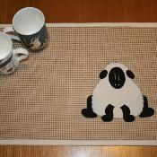 """""""Pickle""""-The Sheep Placemat - pattern for sale via @Craftsy"""