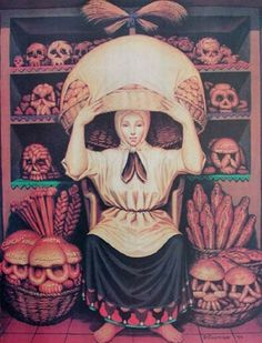 The Skull Bakery Illusion. I'm not really a fan of skulls, but I love fun optical illusions (squint your eyes).