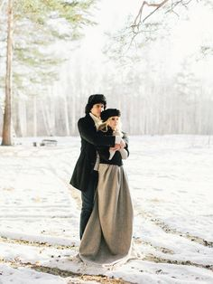 Winter engagement shoot | Olga Plakitina Photography | see more on: http://burnettsboards.com/2014/12/romantic-russian-winter-engagement-editorial/