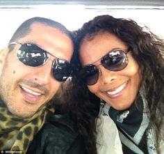 Happy couple: Janet and Wissam celebrate her birthday last year in this romantic Twitter picture ♫ 'I'm fortunate enough to be dating my dream woman,' the managing director of Al Mana Retail, which represents A/X Armani Exchange, told Harper's Bazaar Arabia in November 2010.