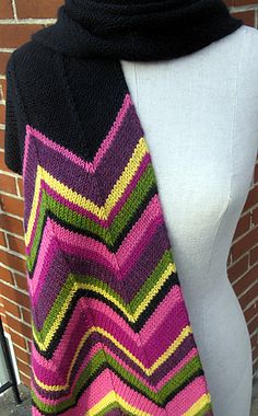 Ravelry: Missoni Inspired Scarf pattern by Espace Tricot