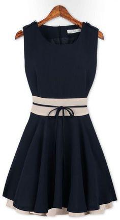 Ruffle Belted Chiffon Dress // #lbd